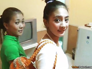 Two adorable Filipinas with nice tits share